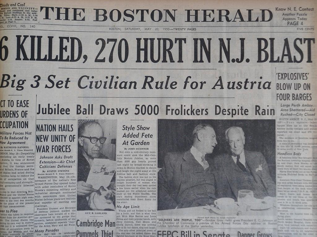 boston herald may 28 1950