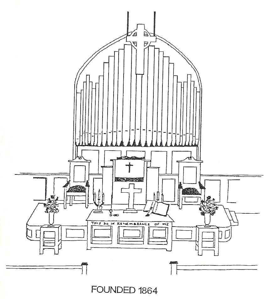 drawing of our Organ
